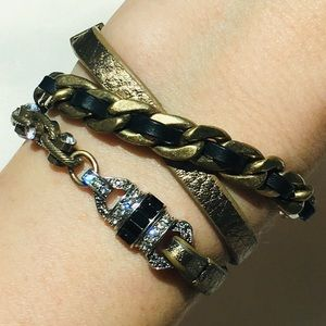 Chloe + Isabel Deco Leather Wrap Bracelet